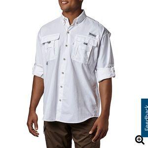 White Columbia Fishing Shirt